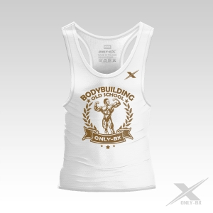 OLD SCHOOL OLD WHITE BODYBUILDING TANK TOP MĘSKI